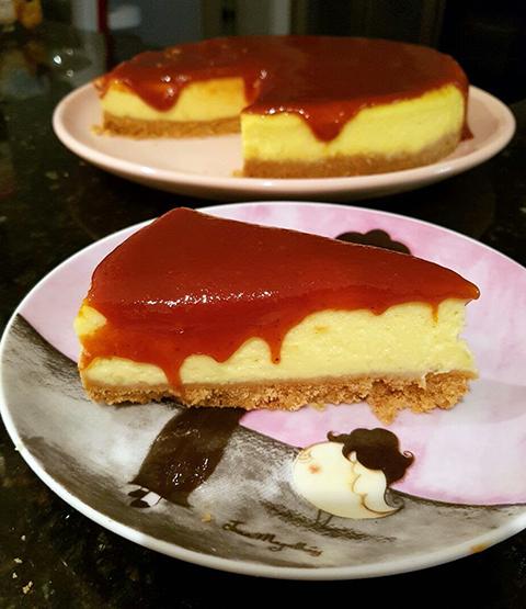 Cheesecake de mascaarpone com goiabada