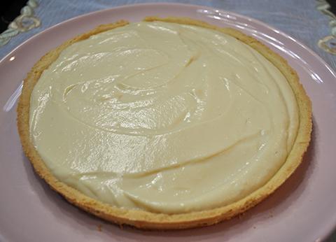 Pâte sucrée + creme: quase uma torta de morango