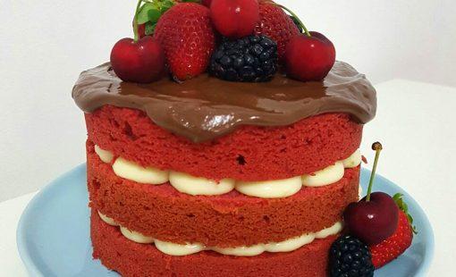 Naked Cake Trufado – Um Ano de Blog