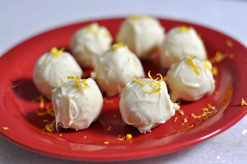 Trufas de limão com hortelã