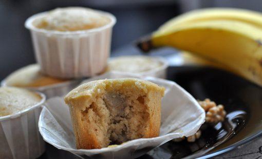 Muffins de Banana com Nozes