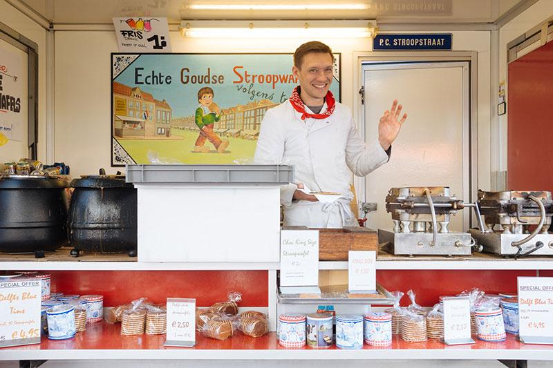 A barraquinha de Stroopwafels. Foto thatfoodcray.com