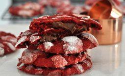 Cookie Red Velvet Recheado com Nutella