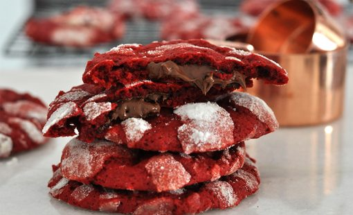 Cookie Red Velvet Recheado com Nutella