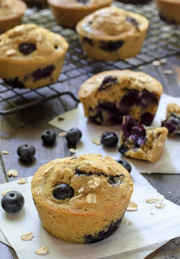 Muffins. Foto por wellplated.com