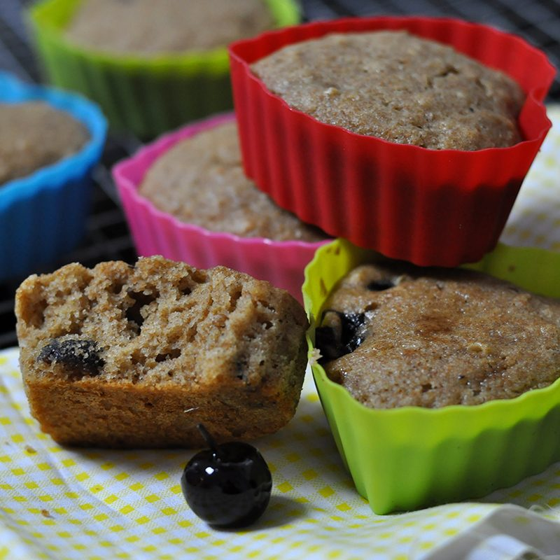 Muffin integral cereja