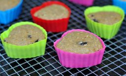 Muffin Integral com Cerejas
