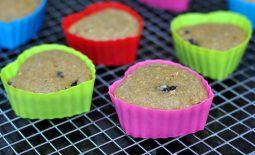 Muffin Integral com Cerejas