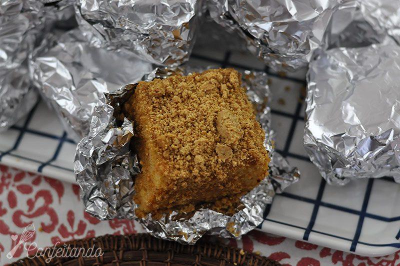 bolo gelado de paçoça