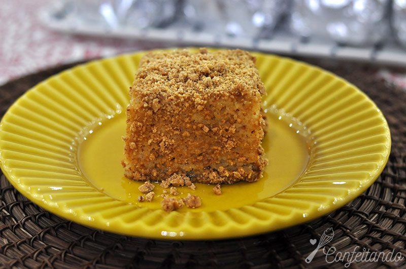 Bolo gelado de paçoca, amendoim, festa junina