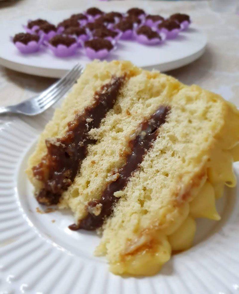 bolo bem casado pronto pra servir. receita de bolo bem casado.