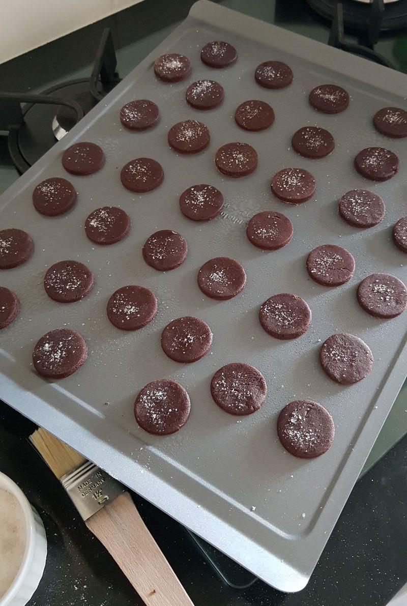 biscoitos de chocolate recheados