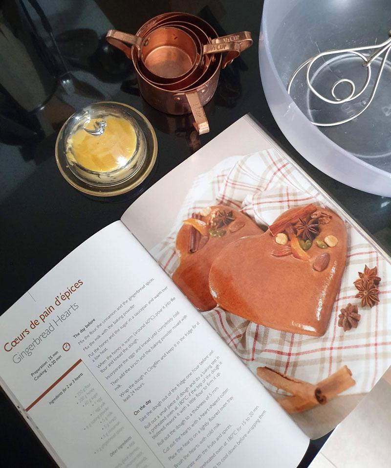livro de receitas gingerbread de natal